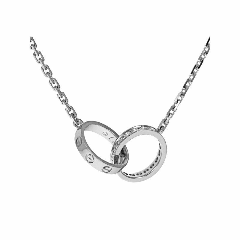 Estate Cartier Interlocking Diamond Love Necklace