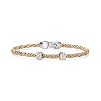 Carnation Cable Essential Stackable Bracelet