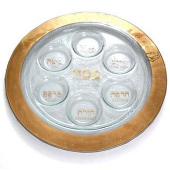 Gold Seder Plate