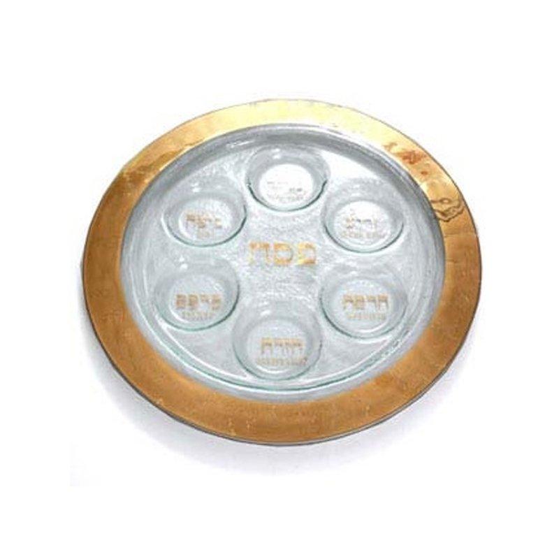 Annieglass Gold Seder Plate
