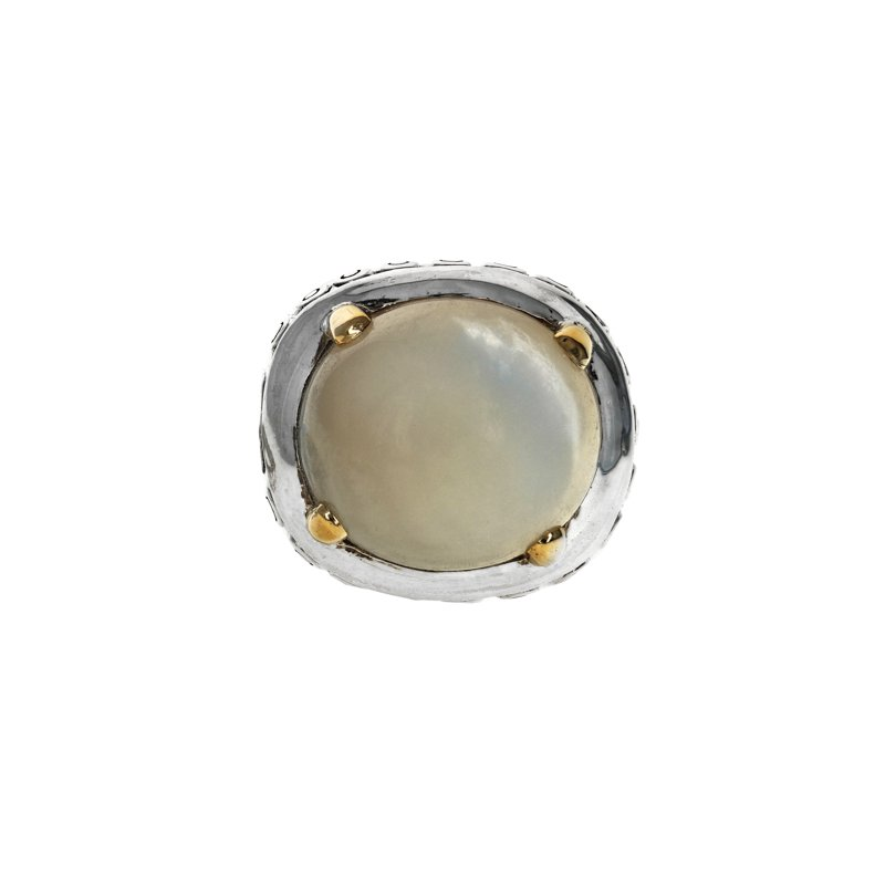 Estate John Hardy Large Mother-Of-Pearl Ring