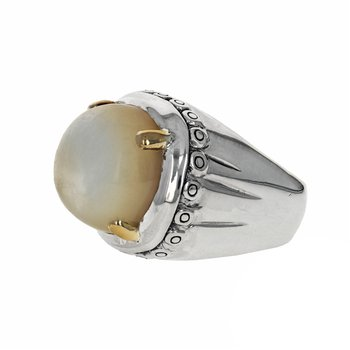 Large Mother-Of-Pearl Ring