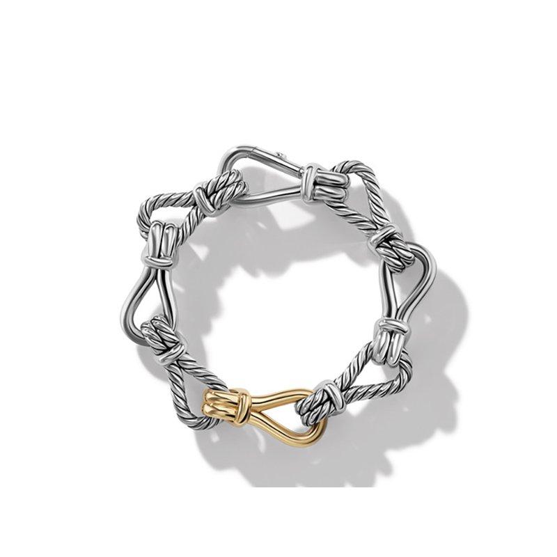 David Yurman Thoroughbred Loop Chain Bracelet with 18K Yellow Gold