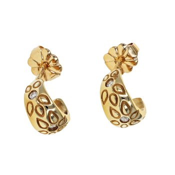 Flower Cuff Diamond Earrings