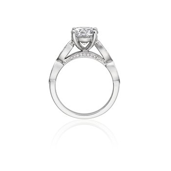 Vintage Style Engagement Ring Mounting