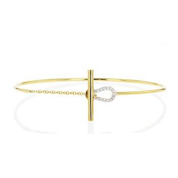Affair Keyhole Toggle Wire Bracelet