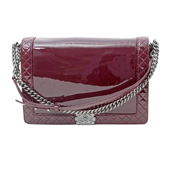 Patent Leather Boy Bag
