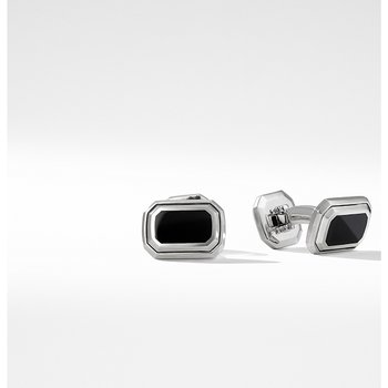 Deco Cufflinks with Black Onyx