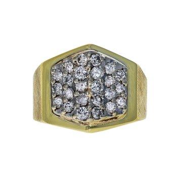 Diamond Pyramid Ring