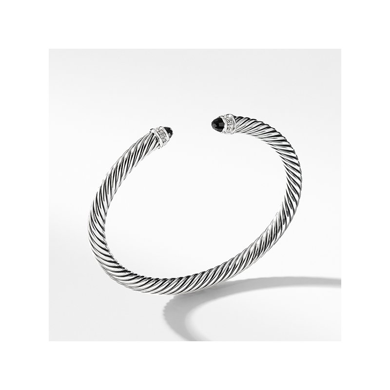 David Yurman Cable Classics Collection Bracelet with Black Onyx and Diamonds
