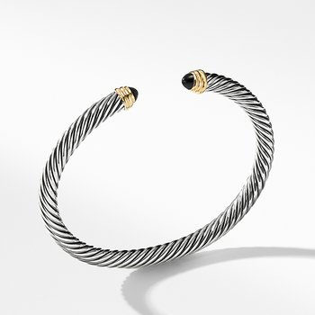 Cable Classics Collection Bracelet with Black Onyx and 14K Gold