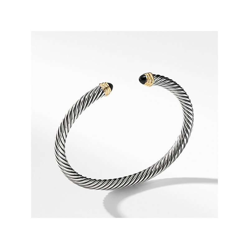 David Yurman Cable Classics Collection Bracelet with Black Onyx and 14K Gold