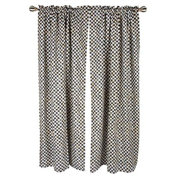 Courtly Check Linen Curtain Panel