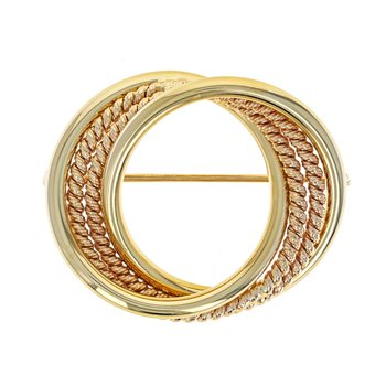 Interlocking Circle  Brooch