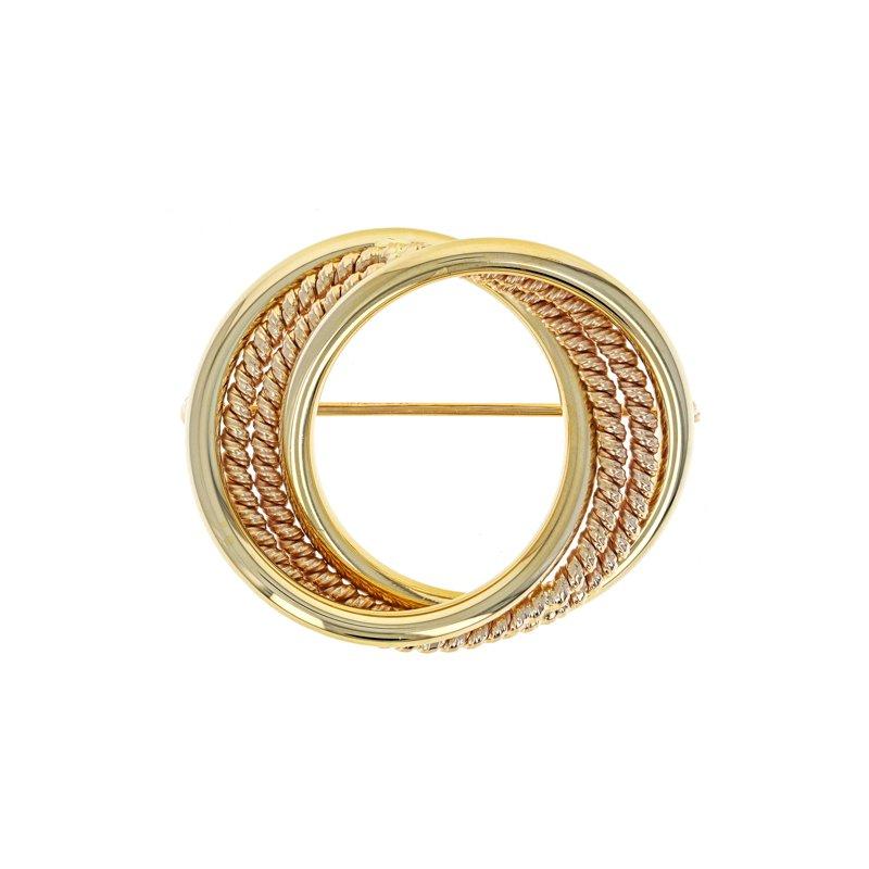 Estate Tiffany & Co. Interlocking Circle  Brooch