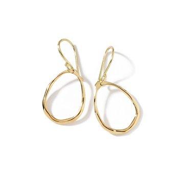 Mini Squiggle Teardrop Earrings in 18K Gold