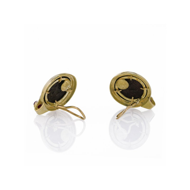 Estate Radcliffe Roman Coin Replica Earrings