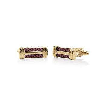 Burgundy Cable Signature Cufflinks
