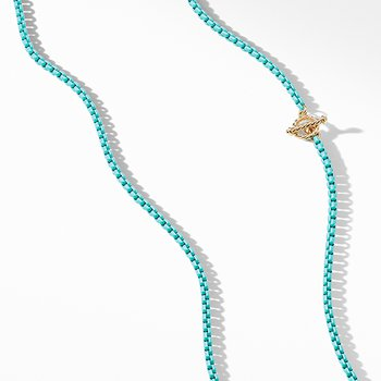 DY Bel Aire Chain Necklace in Turquoise with 14K Gold Accents