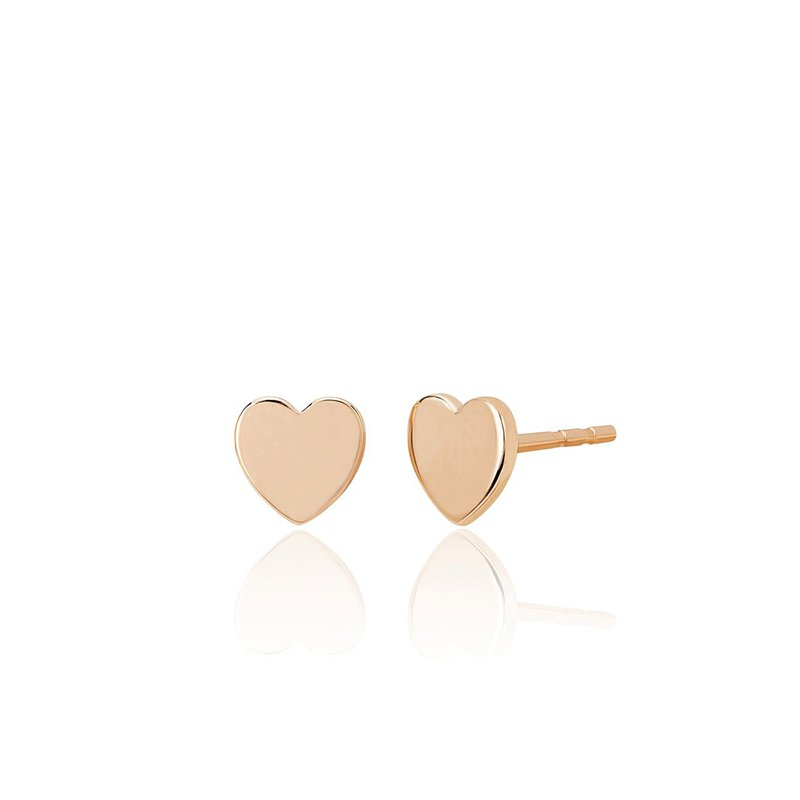 EF Collection Gold Mini Heart Stud Earrings