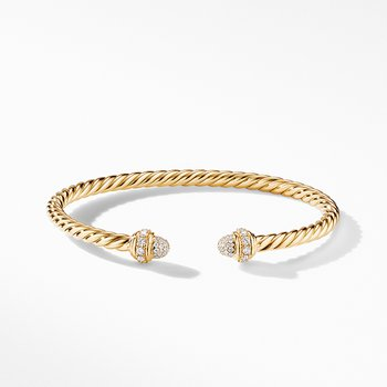 Cable Bracelet in 18K Yellow Gold with Diamonds