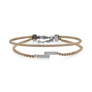 Yellow Chain & Cable Intermix Bracelet