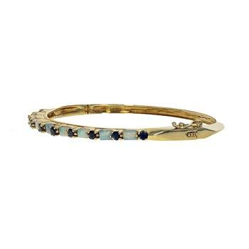 Sapphire & Opal Bangle