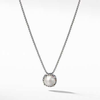 Chatelaine Pendant Necklace with Pearl