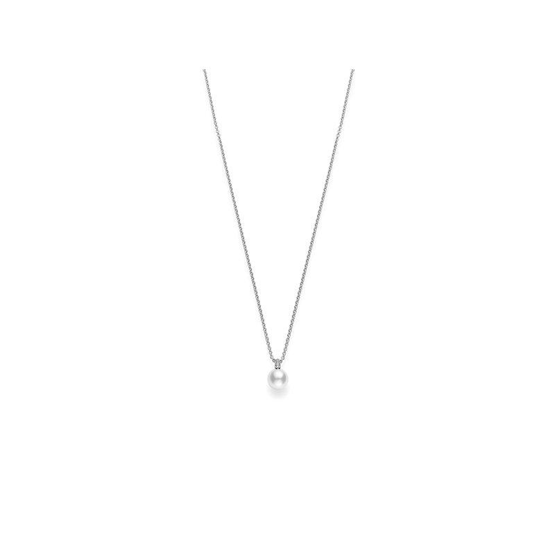 Mikimoto Pearl & Diamond Pendant