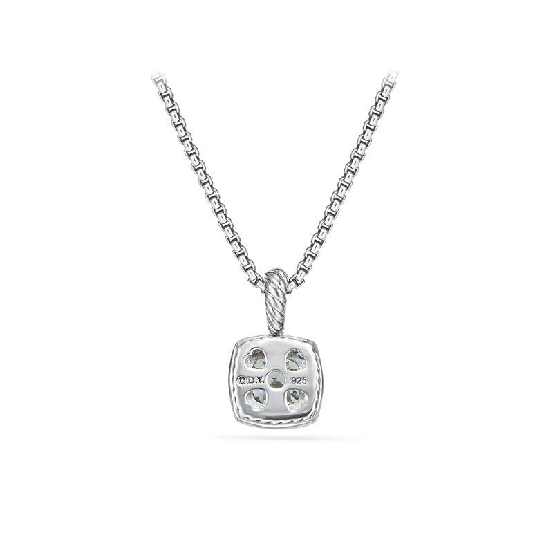 David Yurman Petite Albion Pendant Necklace with Prasiolite and Diamonds