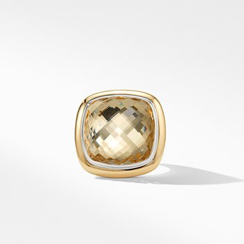 Albion Statement Ring with 18K Gold and Champagne Citrine