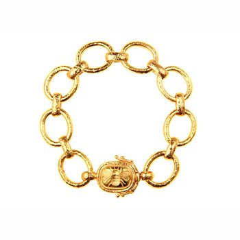 """Smooth Link Bracelet with """"Fat Bee"""" Clasp"""