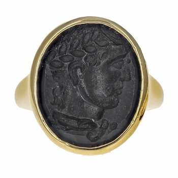 Onyx Warrior Signet Ring