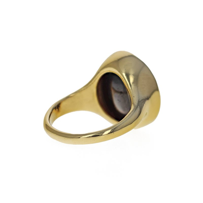 Estate Radcliffe Onyx Warrior Signet Ring