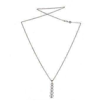 Graduated Diamond Heart Necklace
