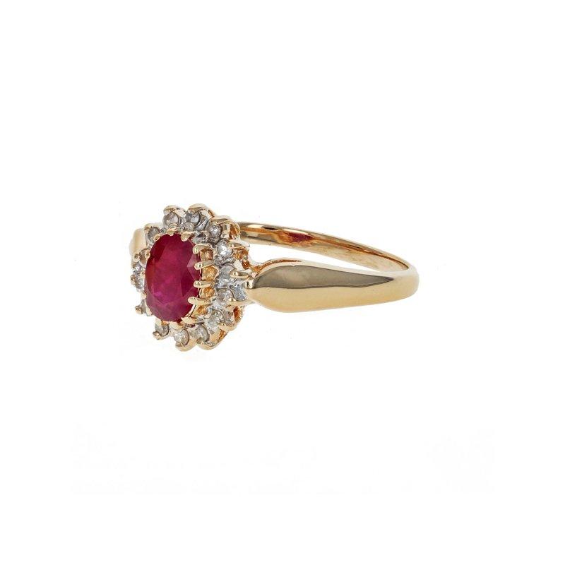 Estate Radcliffe Ruby & Diamond Halo Ring