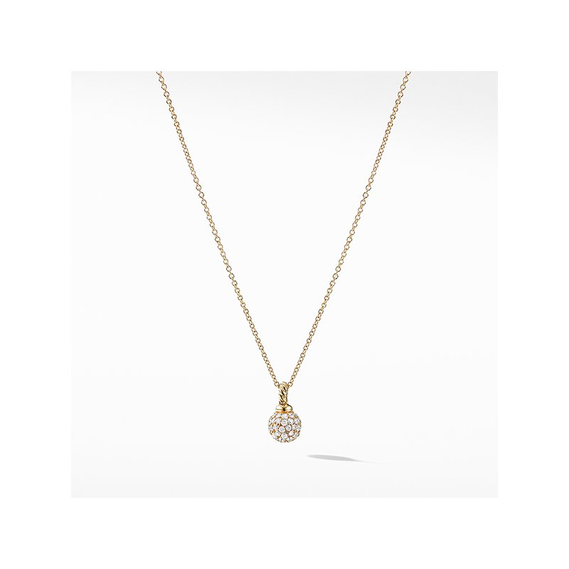 David Yurman Solari Pave Pendant Necklace with Diamonds in 18K Gold