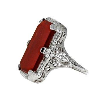Carnelian Filigree Ring