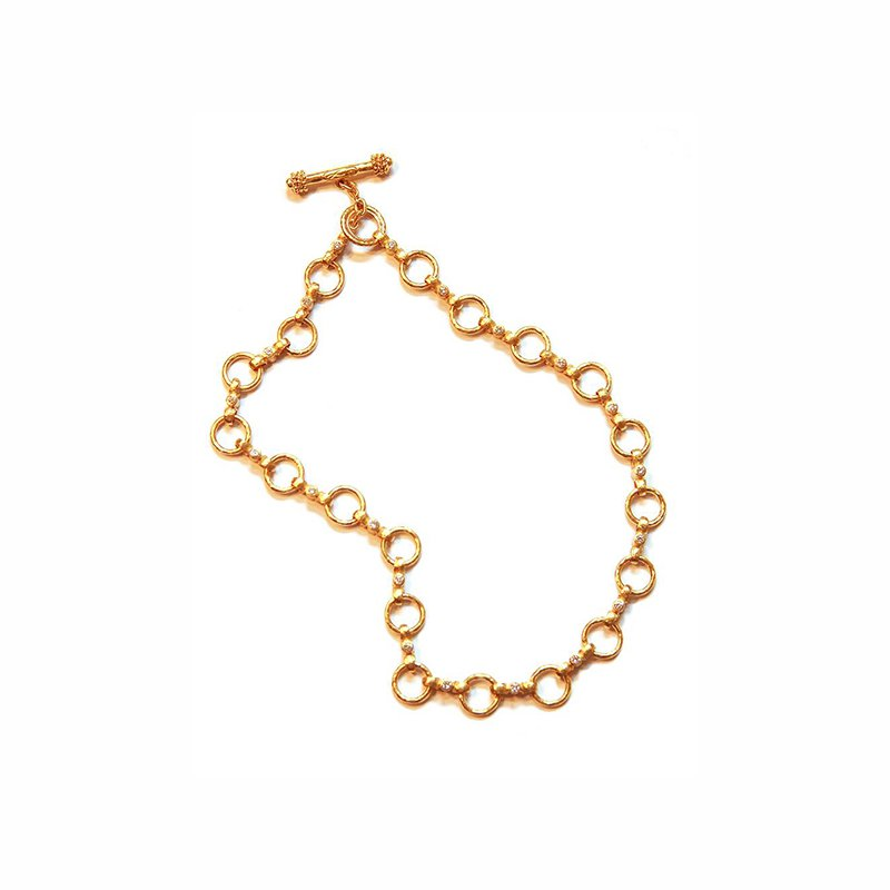 "Elizabeth Locke Diamond ""Celtic"" Link Necklace"