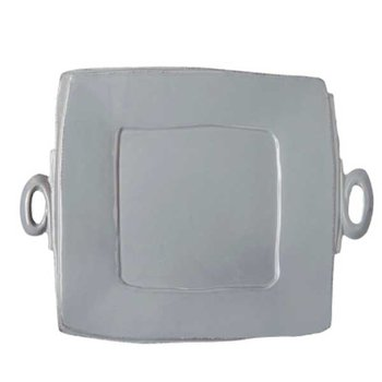 Lastra Gray Handled Square Platter