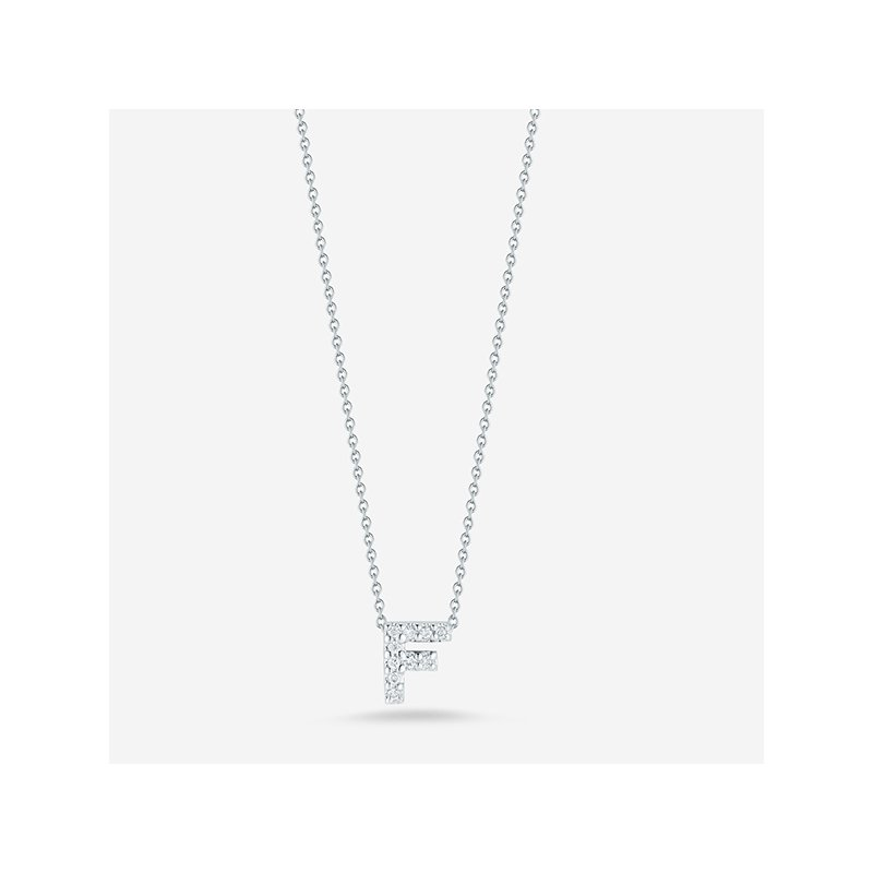 "Roberto Coin Diamond ""F"" Pendant"