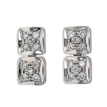 Diamond Square Link Earrings