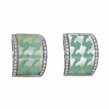 Inlay Diamond Earrings