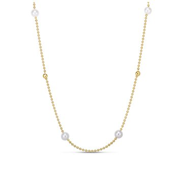 4 Station Pearl & Bead Necklace