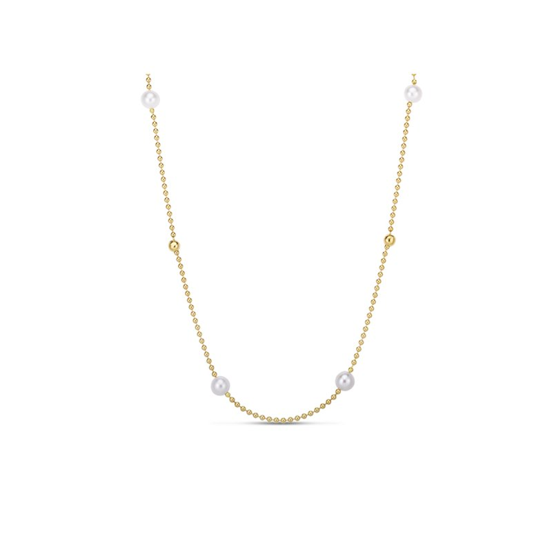 Roberto Coin 4 Station Pearl & Bead Necklace