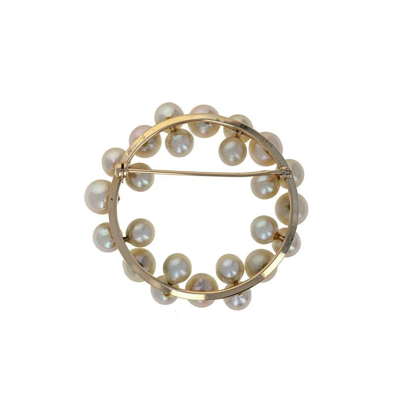 Estate Radcliffe Circular Floating Pearl Pin