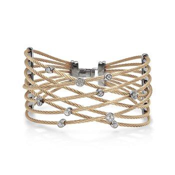 Carnation Cable Constellation Bracelet