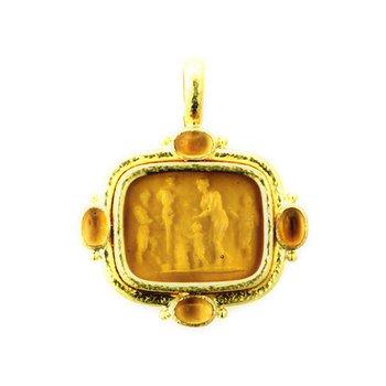 "Light Amber ""Pan Picnic Antique"" Pendant"