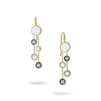 Jaipur Mixed Blue Topaz Earrings