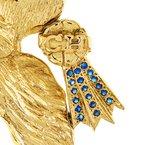 Estate Radcliffe Sapphire Champion Dog Pendant